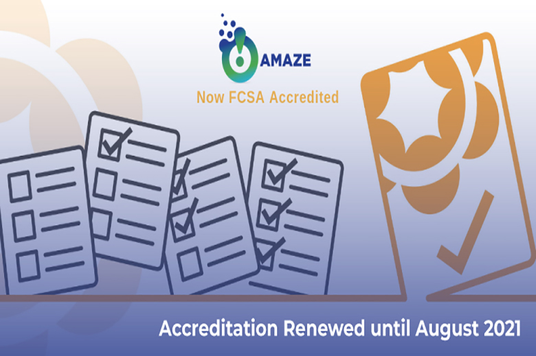Amaze Celebrates FCSA Re-accreditation